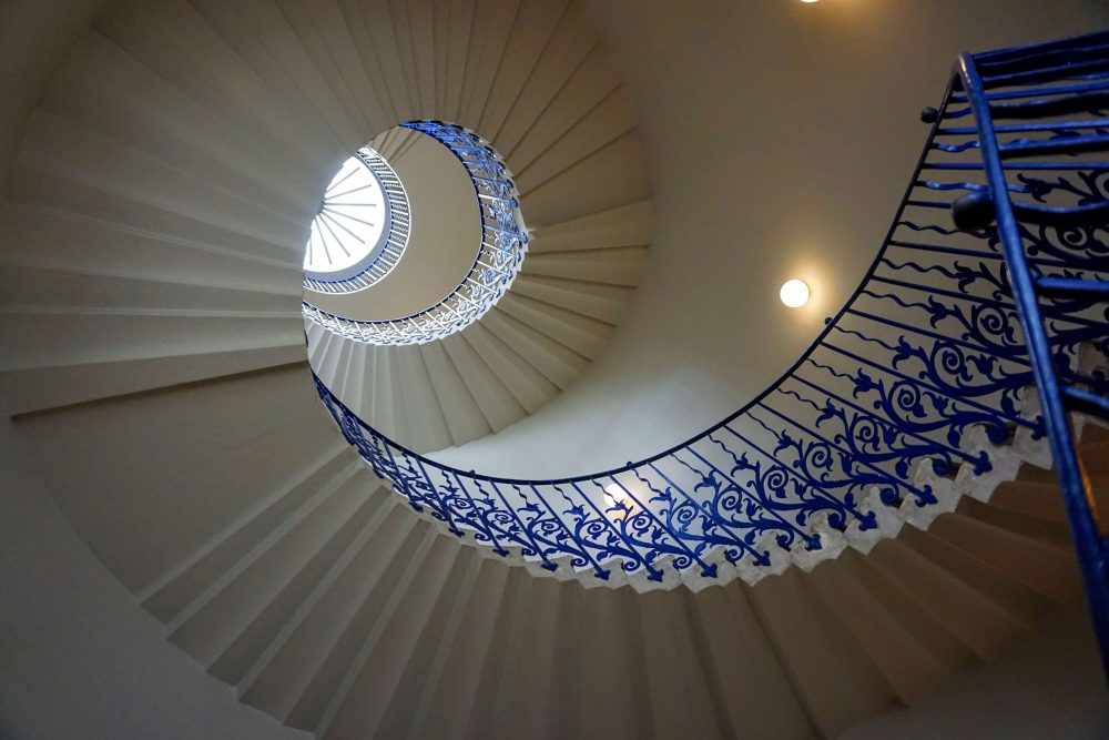 The tulip Staircase at the Queens House is a must see when in Greenwich London