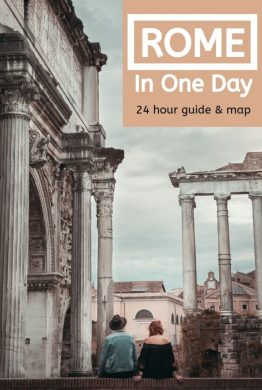 It is possible to see Rome in one day! Follow our itinerary guide (plus free map) to make the most of your 24 hours in the Eternal City. Take in the main sights, tips on how to avoid the queues and the best places to eat and stay. #rome #italy #europe #onedayinrome