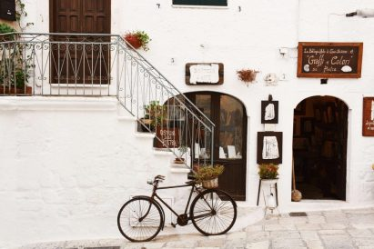 pretty town of Ostuni in Puglia
