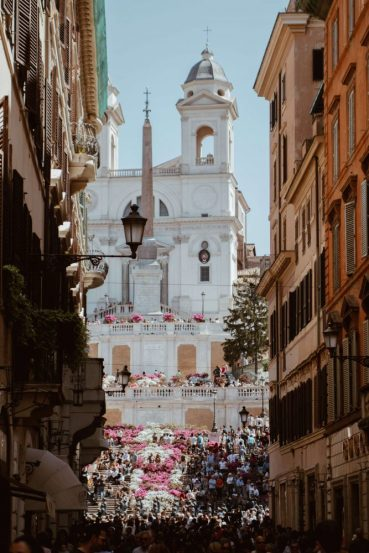 Do not miss the Spanish steps in Rome