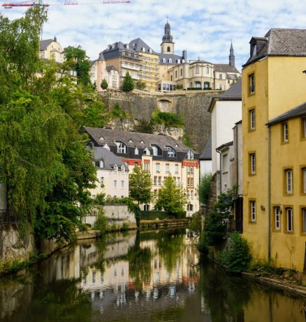 views from the Grund in Luxembourg