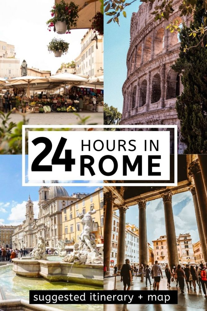It is possible to see Rome in one day! Follow our 24 hour itinerary guide (plus free map) to make the most of your time in Rome. Take in the main attractions and highlights, tips on how to avoid the queues and the best places to eat and stay. #rome #italy #europe #onedayinrome