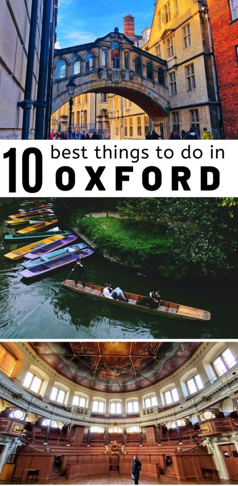 Top 10 Thing To Do in Oxford, England. Everyone knows about Oxford University campus and its beautiful aestheics but the city has so much more to offer from Alice in Wonderland and Harry Potter related trivia, secret places to escape the hustle and bustle, great food and photography opportunities. Check our travel guide for the perfect day trip iitinerary. #oxford #england