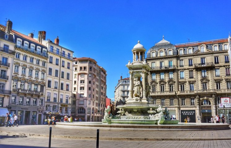 Presqu'il district of Lyon, France is one of the best places to stay in Lyon