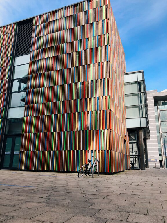 things to do Leeds - take a walk along the Docks and explore some of the unique and colourful art installations of Leeds