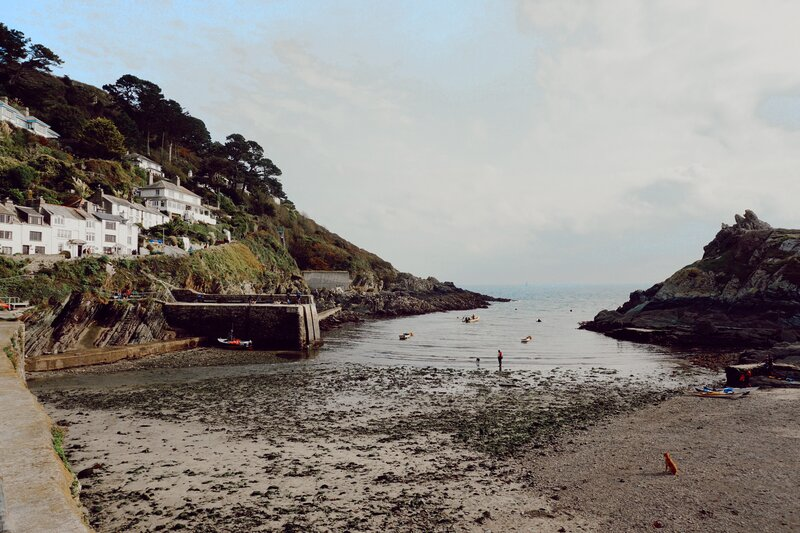 Polperro beach - Cornwall, UK. One fo the best towns in Cornwall for art shops and seafood.