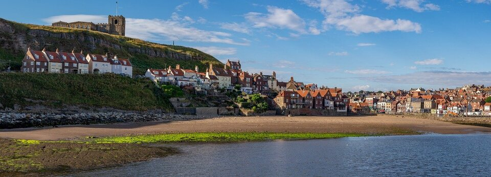 Visiting Yorkshire villages on the coast for a relaxing weekend break, UK.
