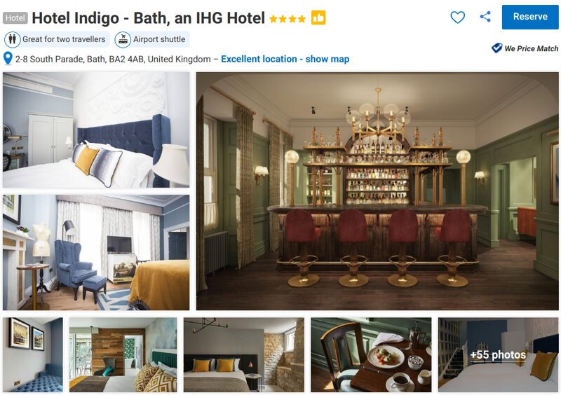 Things to do at Bath's Hotel Indigo in the city centre
