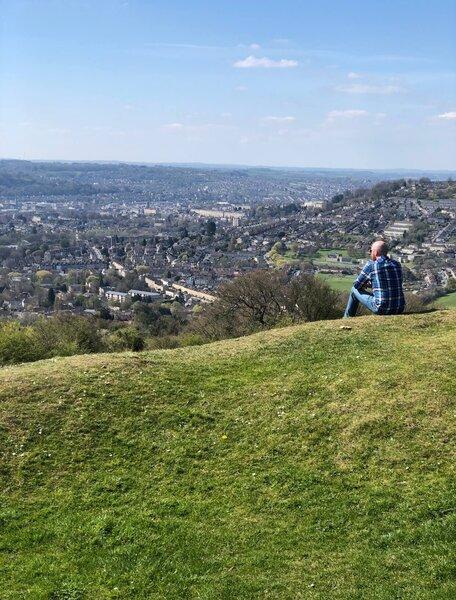 best view of Bath in UK - Solsbury Hill