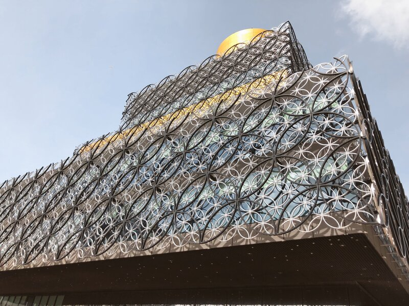 nice places in Birmingham. Library is free to visit.