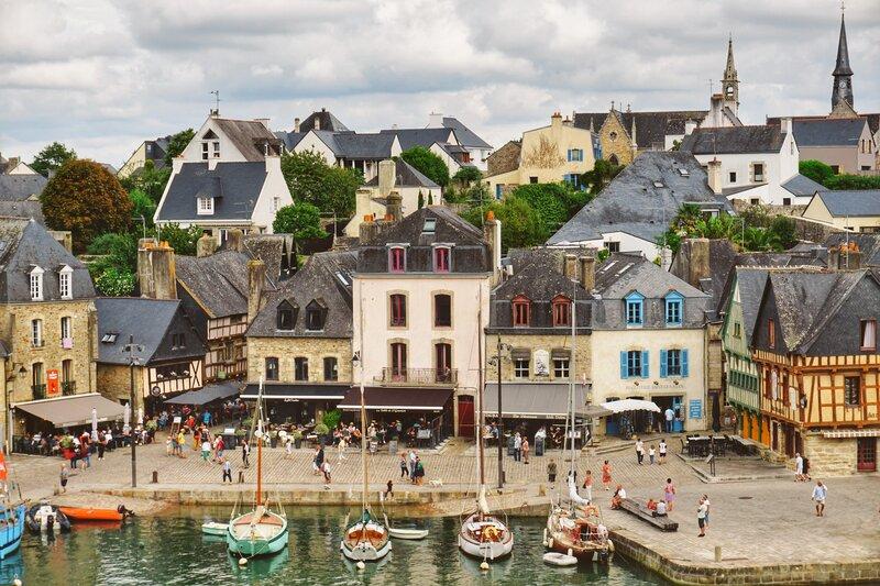 Ancient port de Saint Goustan, Auray. Brittany