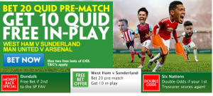 Paddy Power In Play Free Bet