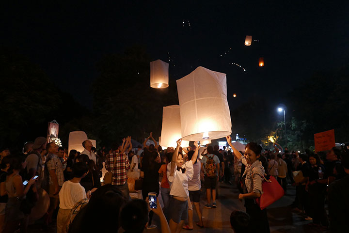 Loi Krathong Festival : Chiang Mai, Thailand