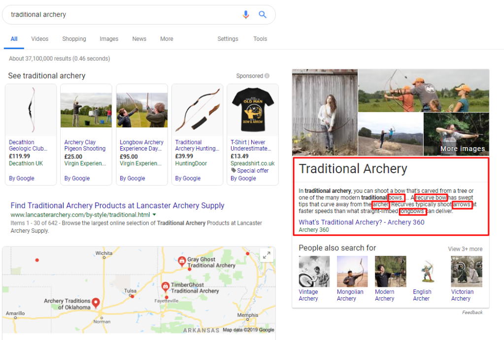 Traditional Archery Google Search Results