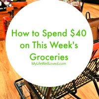 $40 Weekly Grocery Budget Challenge