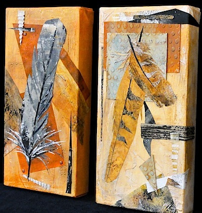 Two Feather Collages 3056