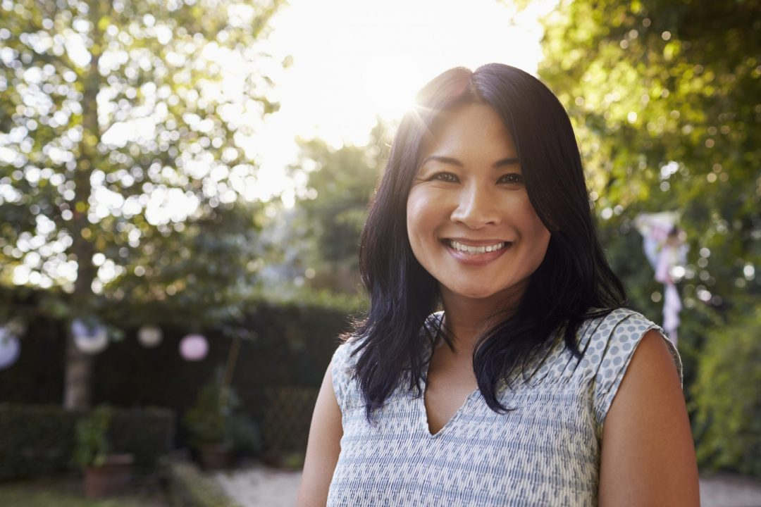 Asian woman free of overactive bladder