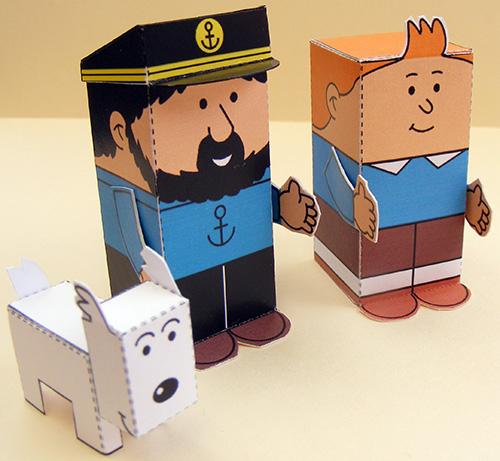 bouwplaat-papercraft-tintin