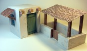 Papercraft de una casa para Belén navideño 2. Manualidades a Raudales.