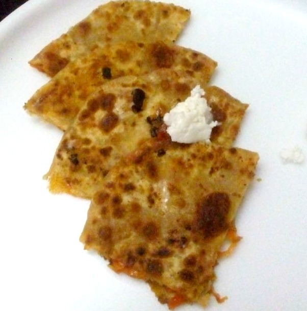Carrot cheese Paratha Recipe for Kids, easy lunch box recipe