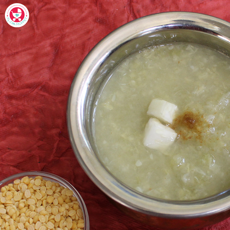 A simple and nutritious bottlegourd puree for babies who are starting solids.