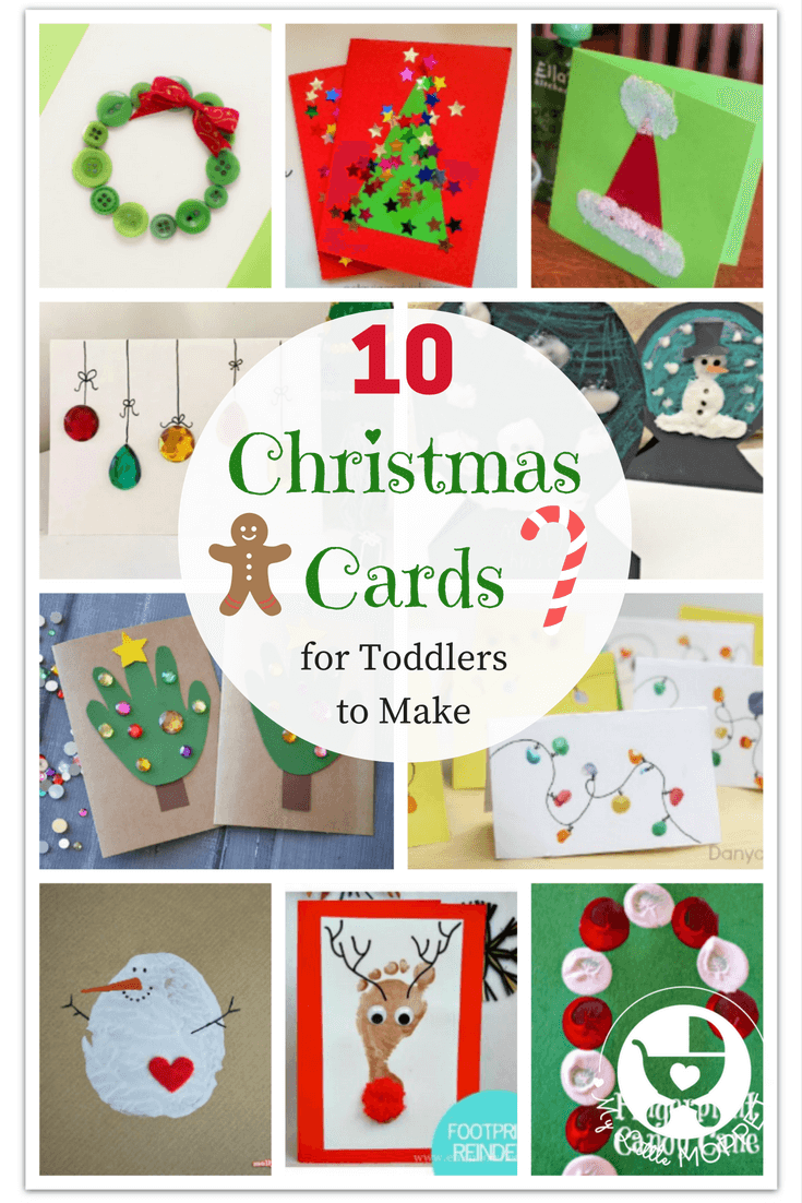 10 easy last minute christmas cards for toddlers to make