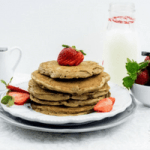 Whole Wheat Strawberry Banana Pancakes Recipe