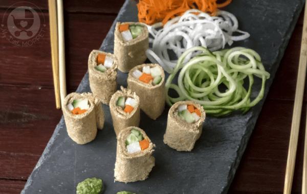 tricolor bread sushi