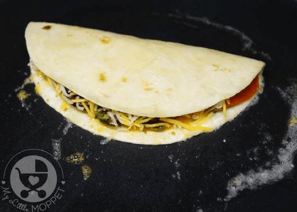 rajma veggie quesadillas