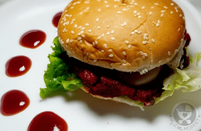 Most Moms think of burgers as junk food or fast food, but this Beetroot Burger is as healthy as it gets! Perfect as a snack or in the lunchbox!