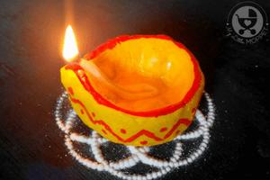 Eco Friendly DIY Diya for Diwali