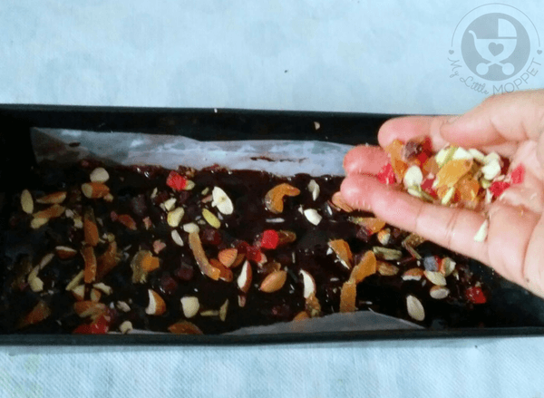 No Bake Brownies with Dry Fruit