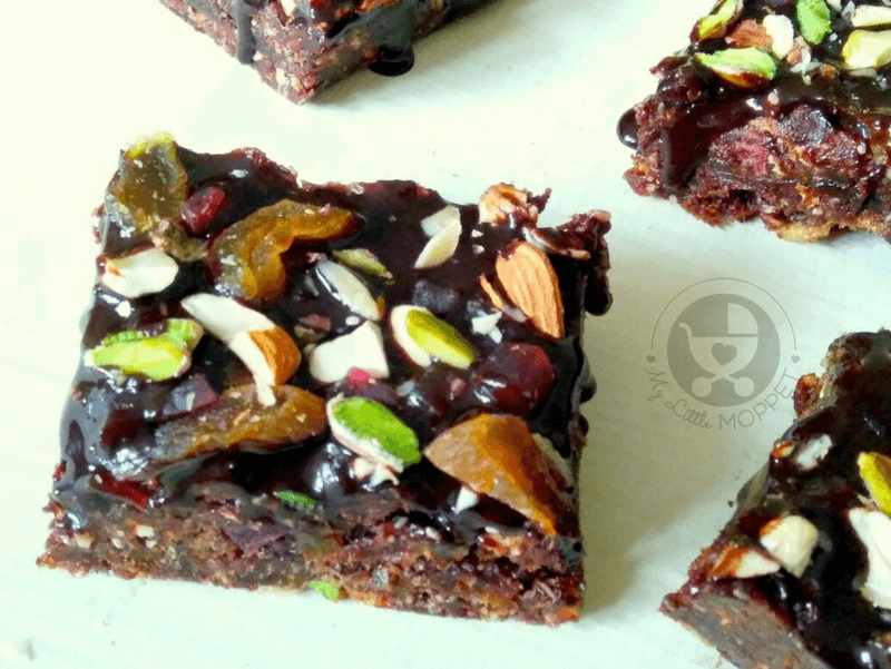 Brownies are an instant favorite with kids! But if you'd rather not go through the hassle of baking, try these healthy no bake brownies with dry fruit!
