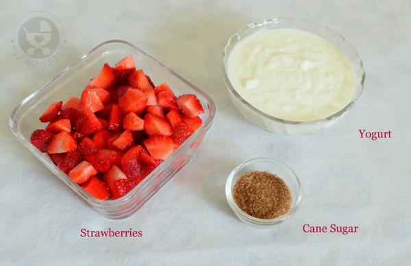 Ingredients needed for Strawberry Lassi Recipe