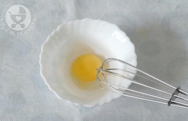 Egg Yolk Vegetable Omelette