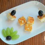 Paneer makes a great finger food for babies over 8 months, and this pan fried paneer cubes recipe is a nice snack for babies and toddlers!