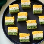 Spongy and delicious tricolor dhokla, with a patriotic touch. This recipe is simple to make and kids will love to carry this in their lunch box for sure.