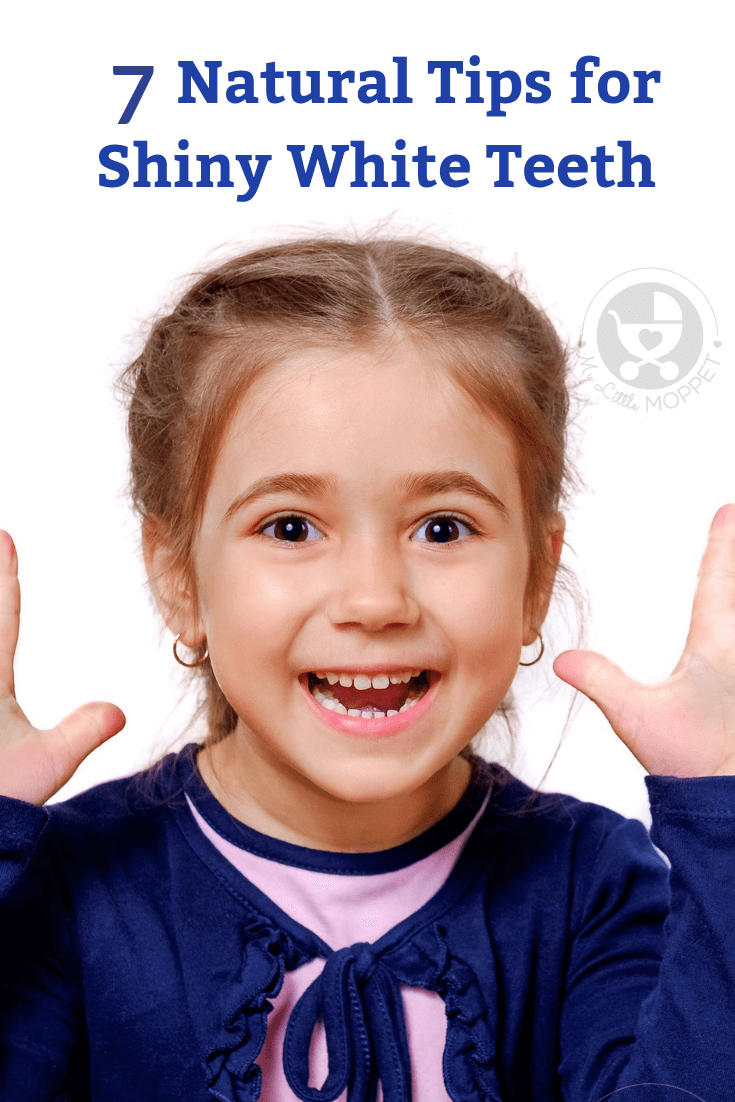 A bright smile doesn't have to involve complex chemical methods - here are 7 Natural Tips for Shiny White Teeth that can be used by both kids and adults!