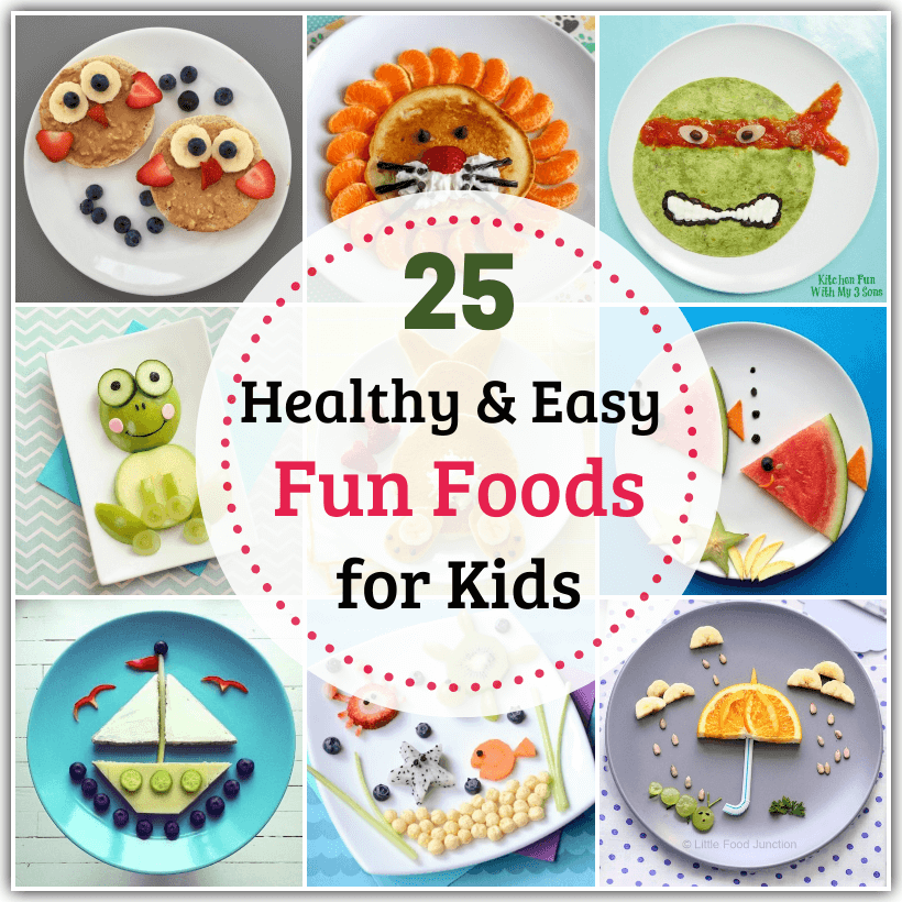 Stuck at home with fussy eaters? Make meal times interesting with these healthy and easy Fun Foods for Kids that can be made with basic ingredients at home!