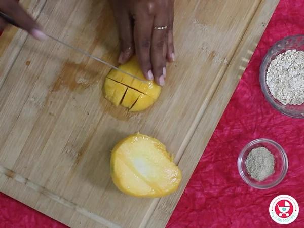 Mango Oats Porridge for Babies