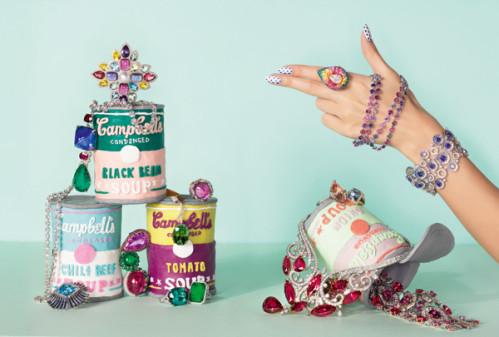 Haute joaillerie et culture culinaire pop pour Vogue GB