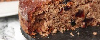 Gâteau du matin, cranberries et épices