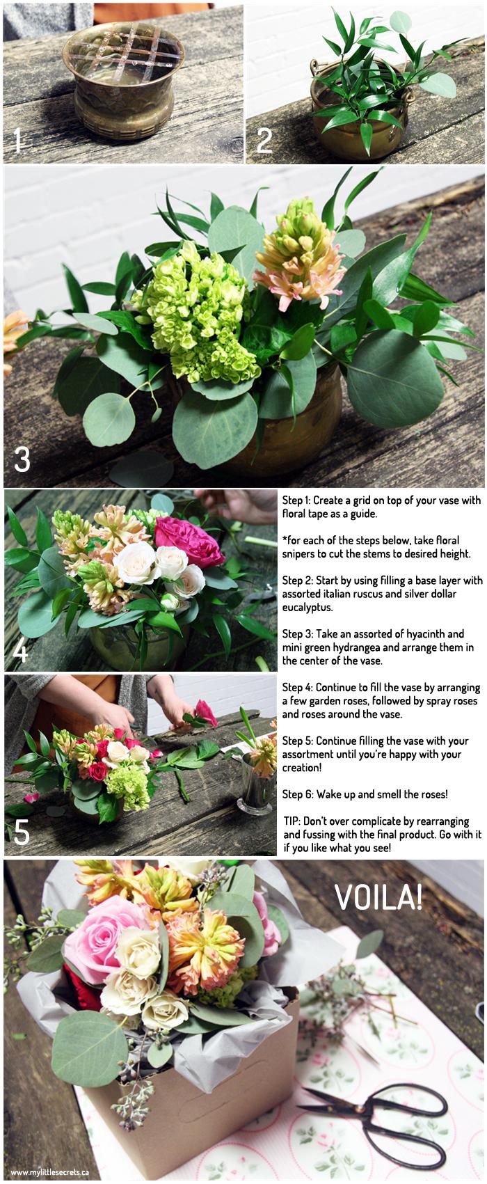 DIY Expert Series Floral Arrangement My Little Secrets