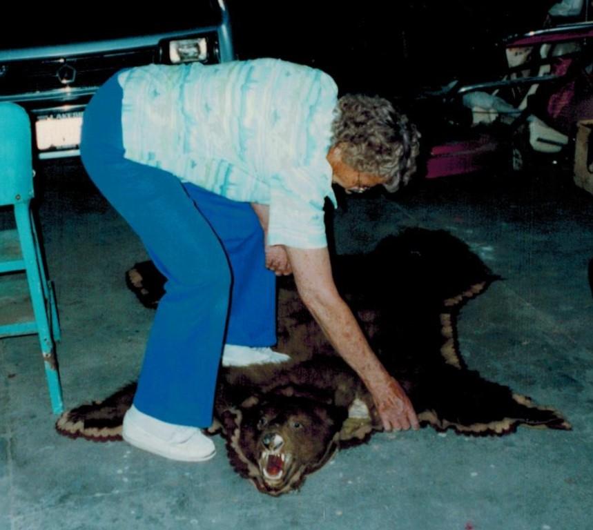 Leona and bear rug (2)