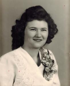 Wanda's wedding photo 1948
