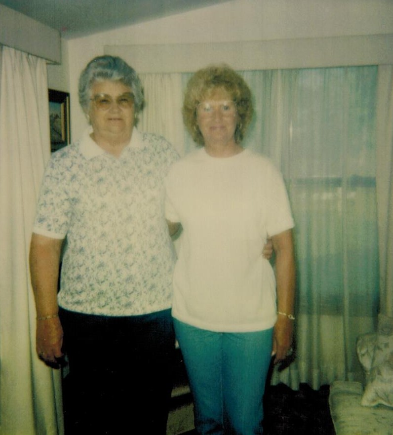 Wanda and Pat half sister