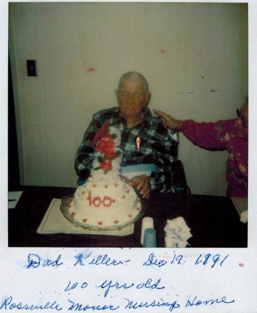 Grandpa Keller 100 bday