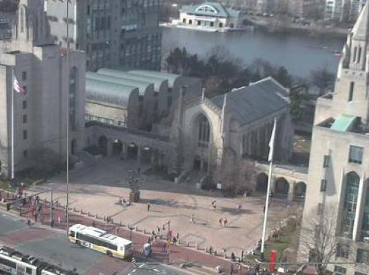 Live Marsh Plaza Webcam Boston University Campus Boston MA