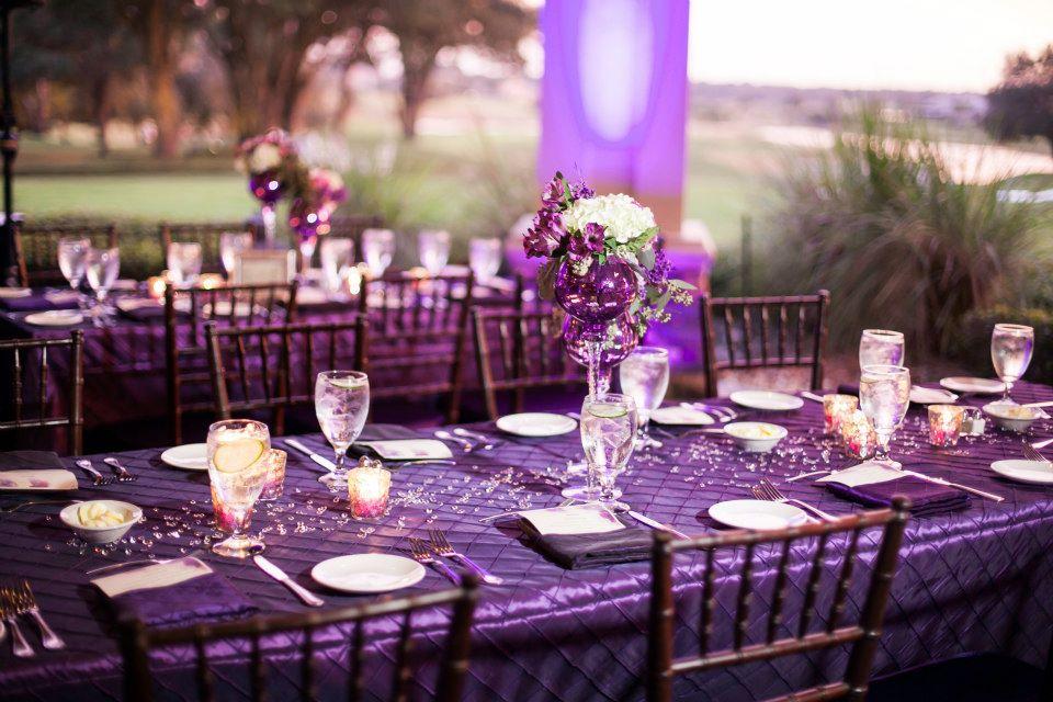 Purple Such A Fabulous Colour Scheme For A Wedding