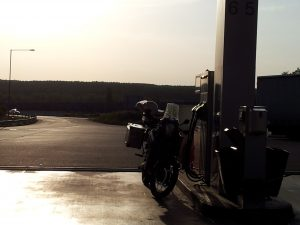 Sunset at the gas station